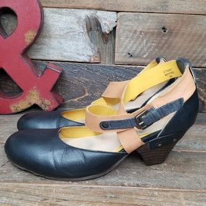 Kickers Multi Color Leather Slip On Shoes Size 8